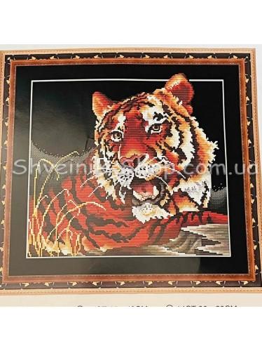 Набор Вышивка  Тигр в Набор входит : Схема , Канва , Мулине DMC , Иголка Размер ширина 44 см Высота 40 см
