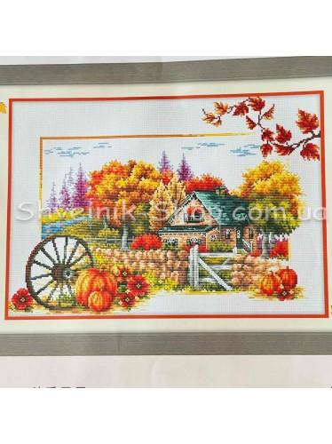 Набор Вышивка  Осень в Набор входит : Схема , Канва , Мулине DMC , Иголка Размер ширина 68 см Высота 41 см
