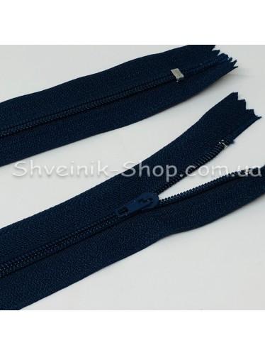 Змейка т-3 50 см на основе ХБ Цвет : Темно Синяя в упаковке 100 штук