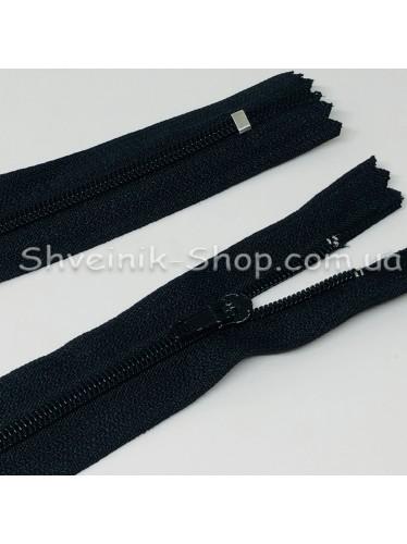 Змейка т-3 50 см на основе ХБ Цвет : Черная в упаковке 100 штук