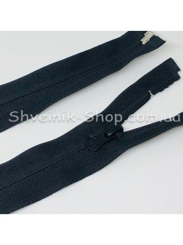 Молнии Обратная Спираль 75 cm  цвет Черный в упаковке 100 штук