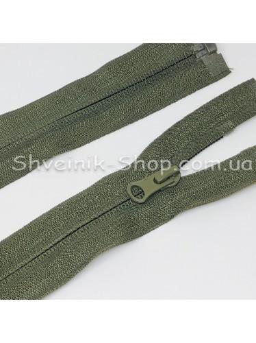 Молнии Обратная Спираль 75 cm  цвет Хаки в упаковке 100 штук