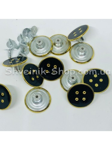 Пуговица Джинсовая Размер 21мм Цвет : Черная + Золото в упаковке 500 штук
