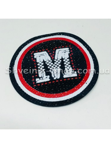 Нашивка спорт  М Размер : диамитер 5 см   Цвет : Черный  в упаковке 500 штук