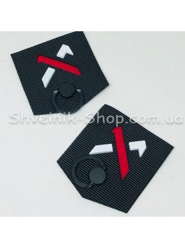 Нашивка спорт на стропе Размер : 50 мм на 55 мм  Цвет :Черный  в упаковке 100 штук