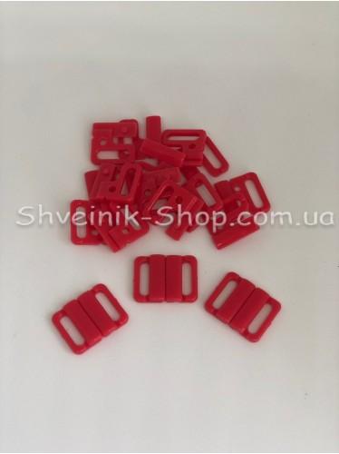 Застежка на купальники пластик цвет Красный размер 1,5 см в упаковке 200 штук цена за упаковку