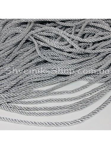 Шнур шторный ( Мебельный) Диамитер 5 мм в упаковке 46 метров Цвет : Белый