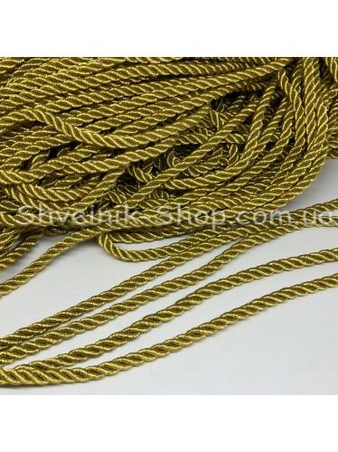 Шнур шторный ( Мебельный) Люрекс Диамитер 5 мм в упаковке 46 метров Цвет : Золото
