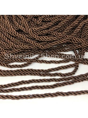 Шнур шторный ( Мебельный) Диамитер 5 мм в упаковке 46 метров Цвет : Коричневый