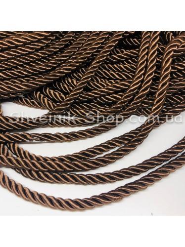 Шнур шторный ( Мебельный) Диамитер 10 мм в упаковке 46 метров Цвет : Коричневый