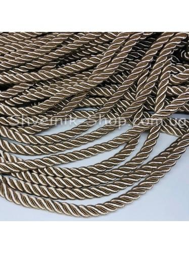 Шнур шторный ( Мебельный) Диамитер 10 мм в упаковке 46 метров Цвет : Бежевый