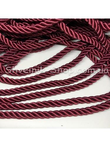 Шнур шторный ( Мебельный) Диамитер 10 мм в упаковке 46 метров Цвет : Бордовый