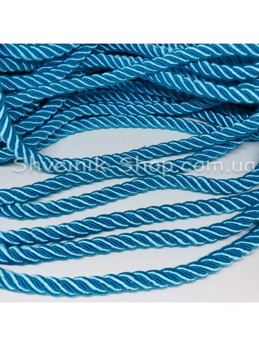 Шнур шторный ( Мебельный) Диамитер 10 мм в упаковке 46 метров Цвет : Берюза