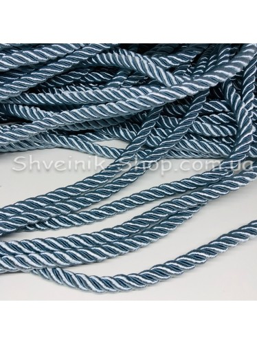 Шнур шторный ( Мебельный) Диамитер 10 мм в упаковке 46 метров Цвет : Голубой