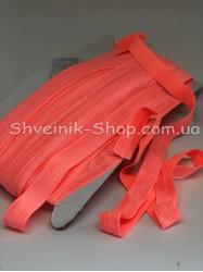 Бейка стрейч ширина 1,5 см (Блестяшая) цвет: Кислотно Оранжевый в упаковке 46 метров