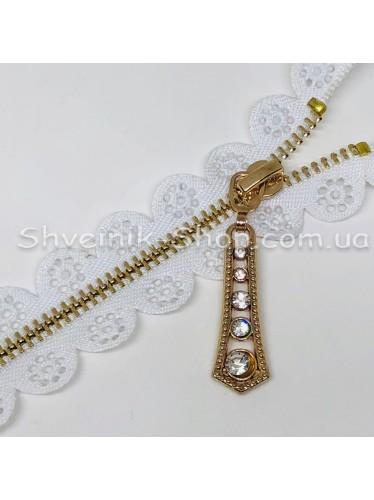 Молнии металл Т-3 Ажурная Размер : 18 см Цвет : Белая в упаковке 100 штук цена за упаковку