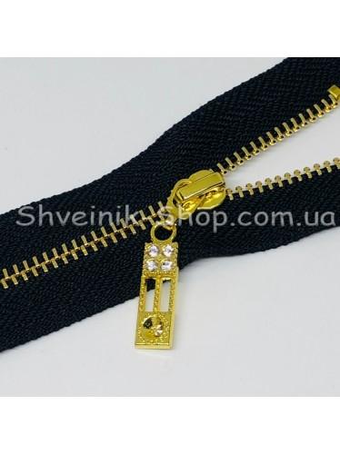 Молнии металл Т-3 5 камней Размер : 18 см Цвет : Черная + Золото в упаковке 100 штук цена за упаковку