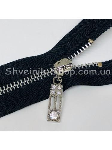 Молнии металл Т-3 5 камней Размер : 18 см Цвет : Черная + Серебро в упаковке 100 штук цена за упаковку