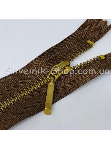 Молнии металл Т-3  Размер : 16  см Цвет : Коричневая + Золото в упаковке 100 штук цена за упаковку