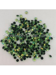 Стразы Стекло Круглые  Размер : ss16 цвет:   Салатовый АВ (голограмма) в упаковке 1440 штук цена за упаковку