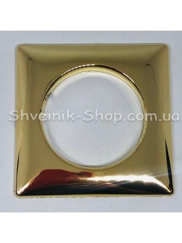 Люверс шторный Турция Квадрат Внутрений Диамитp :39мм Цвет: Золото в упаковке 100 штук цена за упаковку