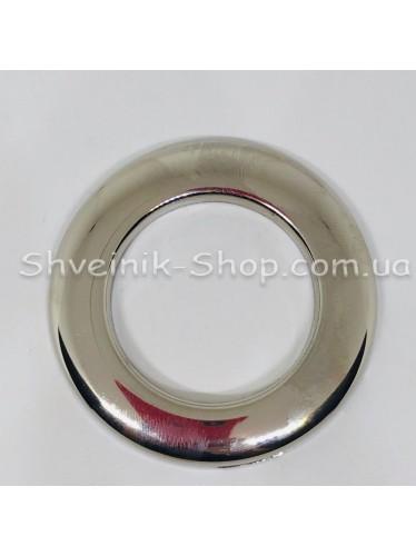 Люверс шторный Турция Круглый Внутрений Диамитp :33 мм Цвет: Серебро  в упаковке 100 штук цена за упаковку
