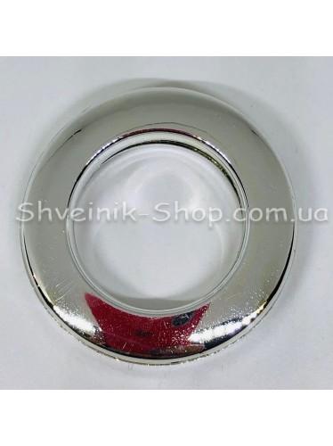 Люверс шторный Китай Круглый Внутрений Диамитp :25 мм Цвет: Серебро в упаковке 50 штук цена за упаковку