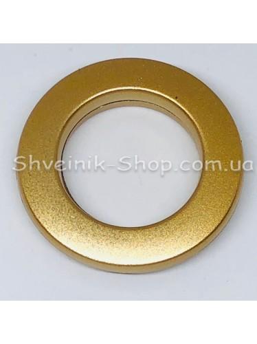 Люверс шторный Китай Круглый Внутрений Диамитp :25 мм Цвет: Матовое Золото в упаковке 50 штук цена за упаковку