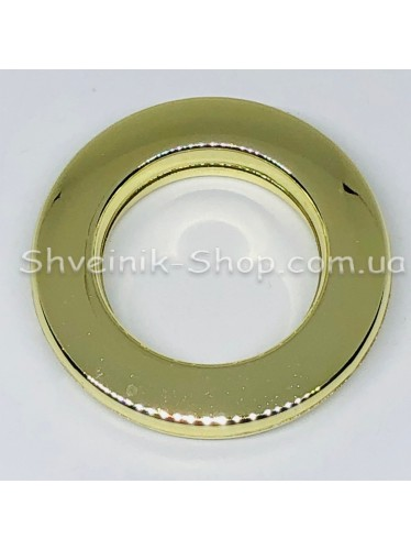 Люверс шторный Китай Круглый Внутрений Диамитp :25 мм Цвет: Золото в упаковке 50 штук цена за упаковку