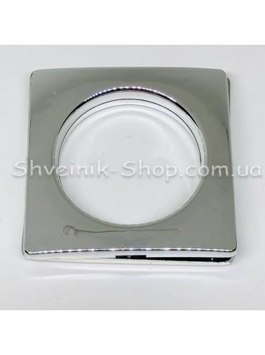 Люверс шторный Китай Квадрат Внутрений Диамитp :35 мм Цвет: Серебро в упаковке 50 штук цена за упаковку