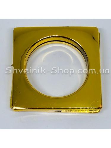 Люверс шторный Китай Квадрат Внутрений Диамитp :35 мм Цвет: Золото в упаковке 50 штук цена за упаковку