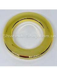 Люверс шторный Китай Круглый Внутрений Диамитp :35 мм Цвет: Золото в упаковке 50 штук цена за упаковку