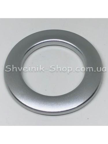Люверс шторный Китай Круглый Матовый Внутрений Диамитp :35 мм Цвет: Матовое Серебро в упаковке 50 штук цена за упаковку