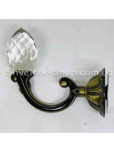 Крючки для штор в стенку с Камнем Высота : 11 см   Длина : 13 см Цвет : Антик цена за 2 штуки