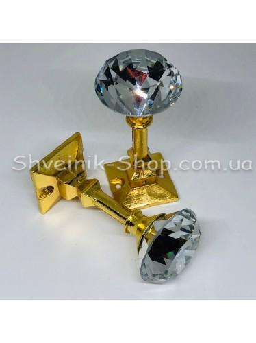 Крючки для штор в стенку с Камнем Высота : 3,5 см   Длина : 8,5 см Цвет : Золото цена за 4штуки
