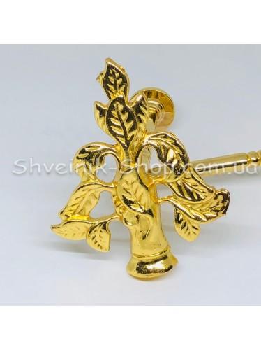 Крючки для штор в стенку с Дерево Высота : 11 см   Длина : 13 см Цвет : Золото  цена за 1 штуку