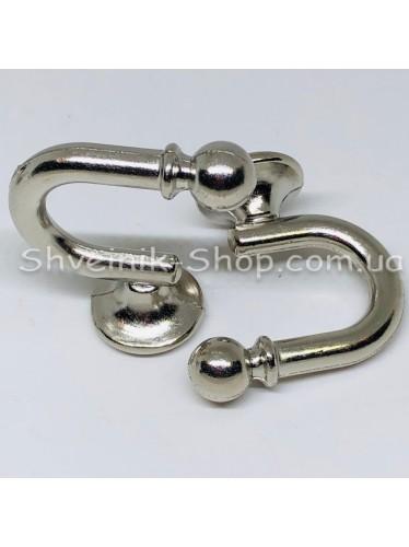 Крючки для штор в стенку Высота : 3 см   Длина : 4 см Цвет : Серебро  цена за 2 штуки