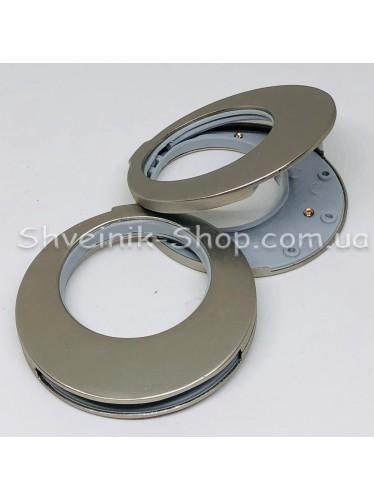 Люверс зажим Турция Внутрений Диамитер : 35 мм  Цвет Матовое Серебро цена за 1 штуку