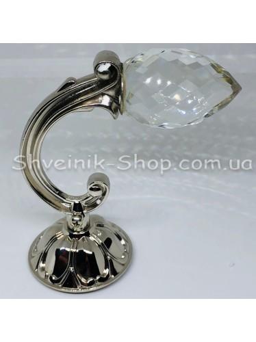 Крючки для штор в стенку с Камнем Высота : 11 см   Длина : 15 см Цвет : Серебро цена за 2 штуки