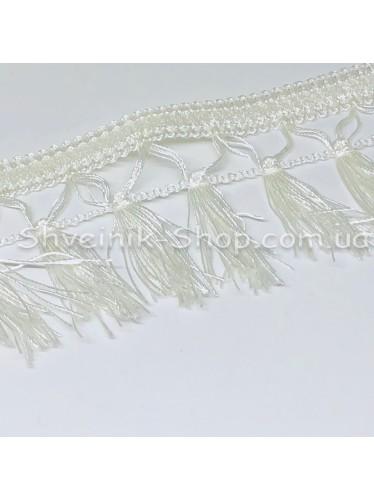Бахрома шторная  Ширина : 7,5  см Цвет : Белый в упаковке 15 метров