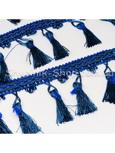 Бахрома шторная Ширина : 9 см Цвет : Синий в упаковке 15 метров