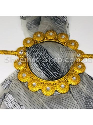 Шторная заколка Гипсовая Диаметр внутрений : 12,5 cm Внешний диаметр 20 см Цвет : Золото в упаковке 2 штуки цена за упаковку