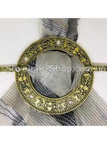 Шторная заколка Гипсовая Диаметр внутрений : 11,5 cm Внешний диаметр 18,5 см Цвет : Антик в упаковке 2 штуки цена за упаковку