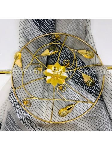 Шторная заколка Металлическая Диаметр внутрений : 12 cm Внешний диаметр 20 см Цвет : Золото   в упаковке 1 штучка цена за упаковку