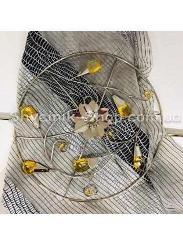 Шторная заколка Металлическая Диаметр внутрений : 12 cm Внешний диаметр 20 см Цвет : Серебро   в упаковке 1 штучка цена за упаковку