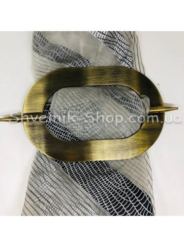 Шторная заколка Металлическая Овал Диаметр внутрений : 13 cm Внешний диаметр 18,5 см Цвет : Антик   в упаковке  1 шт цена за упаковку