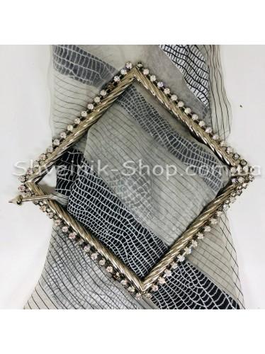 Шторная заколка Металлическая Квадрат Турция Диаметр внутрений : 12*12 cm  Цвет : Серебро в упаковке 1 шт цена за упаковку
