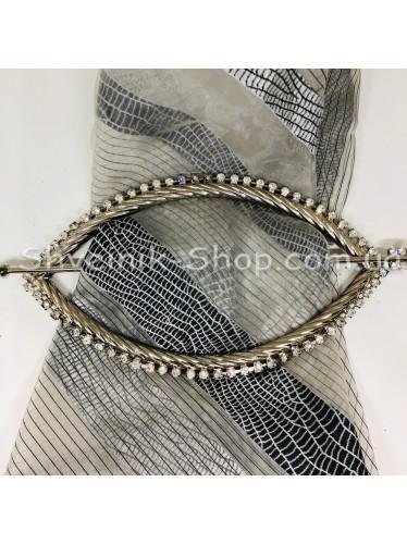 Шторная заколка Металлическая Глазик Турция Диаметр внутрений : 20*10,5 cm  Цвет : Серебро в упаковке 1 шт цена за упаковку