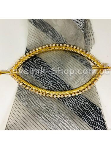 Шторная заколка Металлическая Глазик Турция Диаметр внутрений : 20*10,5 cm  Цвет : Золото в упаковке 1 шт цена за упаковку