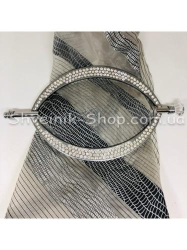 Шторная заколка Металлическая Глазик Турция Диаметр внутрений : 18,5*11 cm  Цвет : Серебро в упаковке 1 шт цена за упаковку